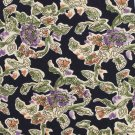 Reed St James Floral Tie Italian Silk Mens Necktie Black Lavender Green 58 USA