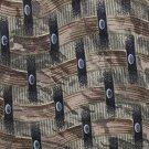 J Ferrar Silk Tie Extra Long 61 Mens Necktie Italy Mod Basketweave Gray Green Blue