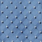 JOS A Bank Silk Necktie Periwinkle Blue Mens Tie Woven Dots Executive 59