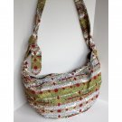 Made in Peru Ethnic Print Canvas Hobo Adjustable Cross body Handbag