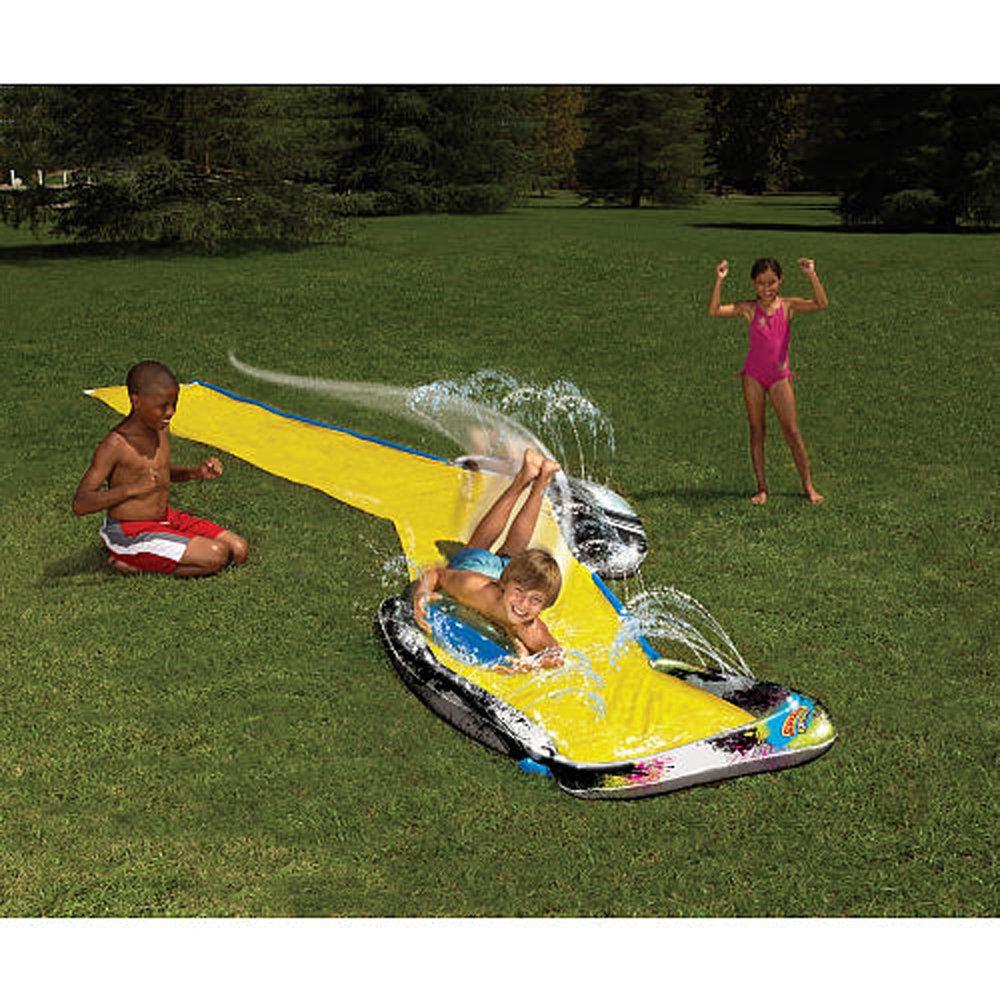 18 Feet Wham-o Slip N Water Slide Black Diamond Racer Ages 8-12