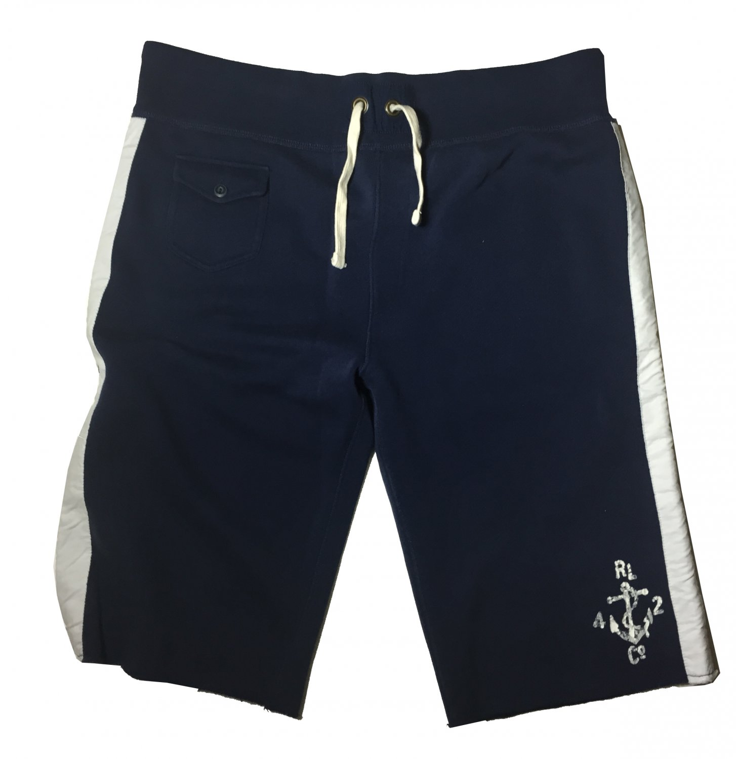 Large Polo Ralph Lauren Lounge Men's Naval Club Shorts Blue