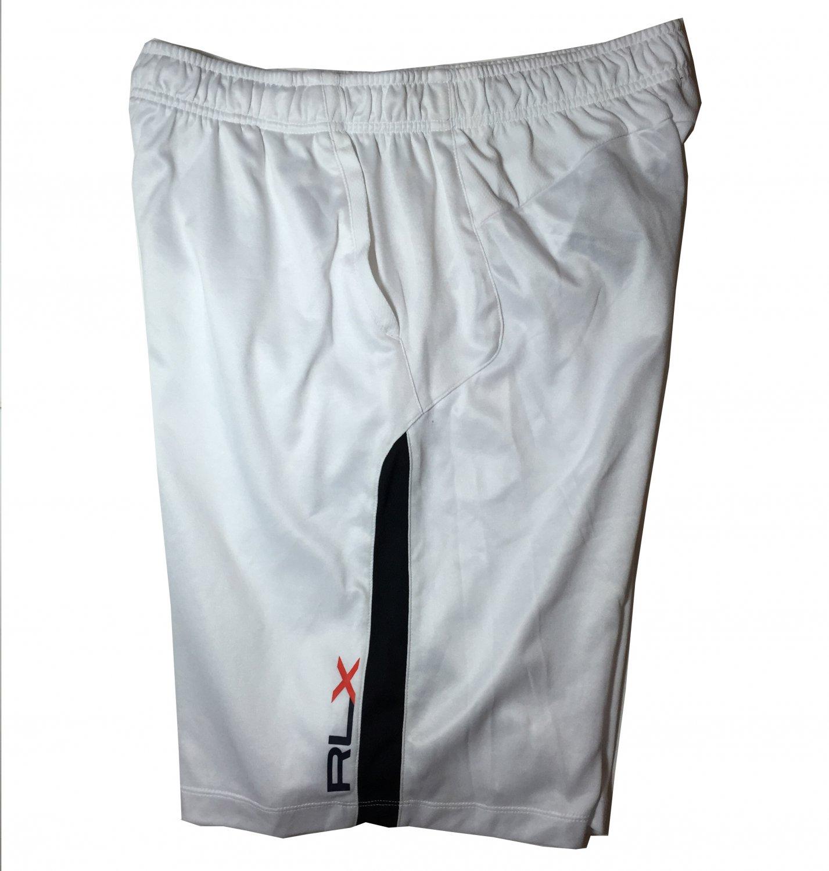 Men's XL RLX Polo Ralph Lauren White Active Basketball Running Shorts