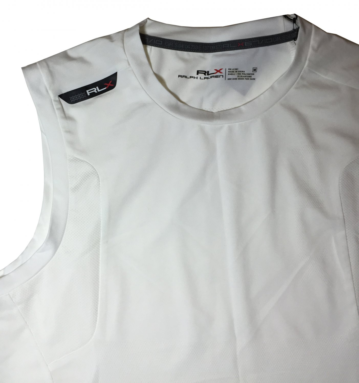 RLX Polo Ralph Lauren Men's Sleeveless Ventilation Shirt White M