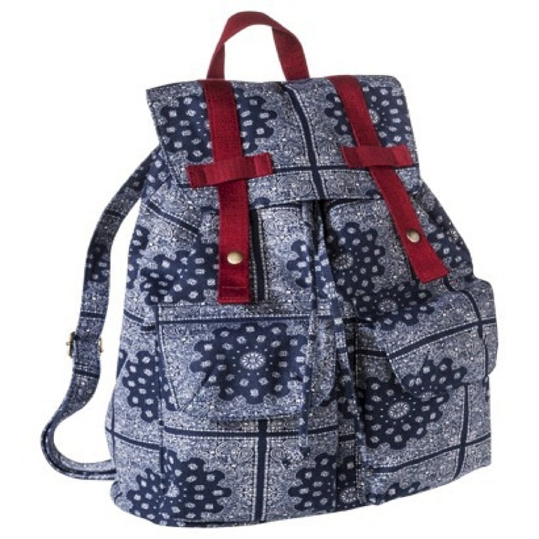 Paisley Print Backpack Bag Handbag Blue Target Limited Edition Kawaii