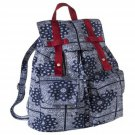 Paisley Print Backpack Bag Handbag Blue Target Limited Edition Kawaii