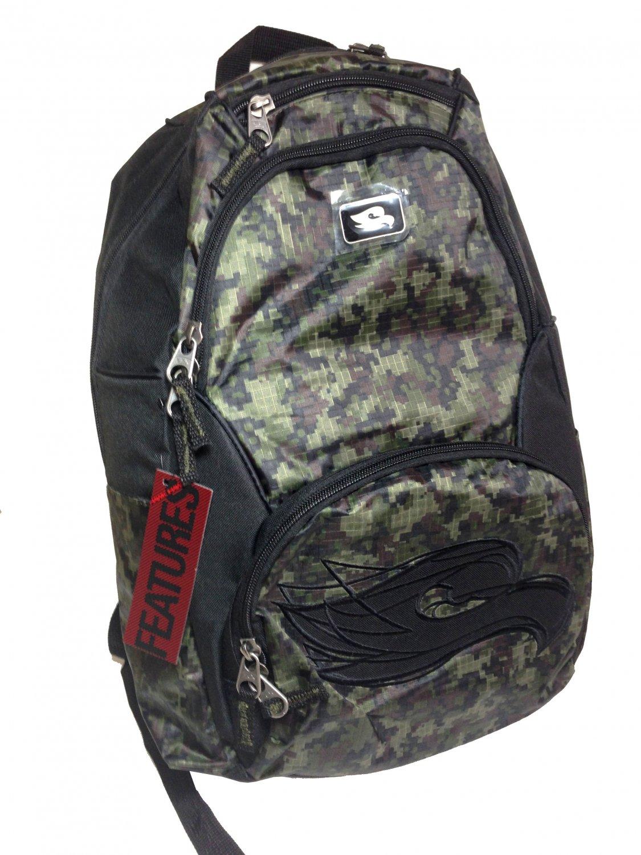 "Tony Hawk Explosion Camo Backpack School 17.5"" x 10"" x 5.5"""
