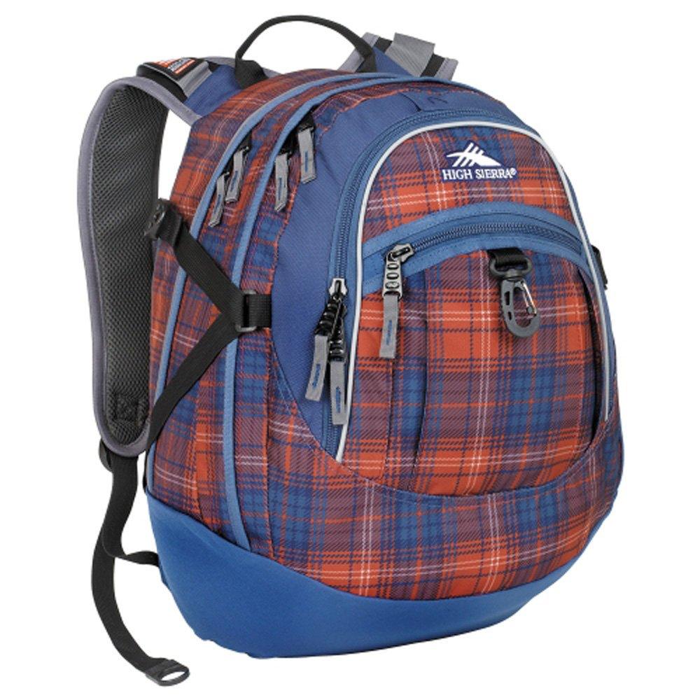 High Sierra 5420-1118 Fat Boy Backpack - Plaid Blue/Red