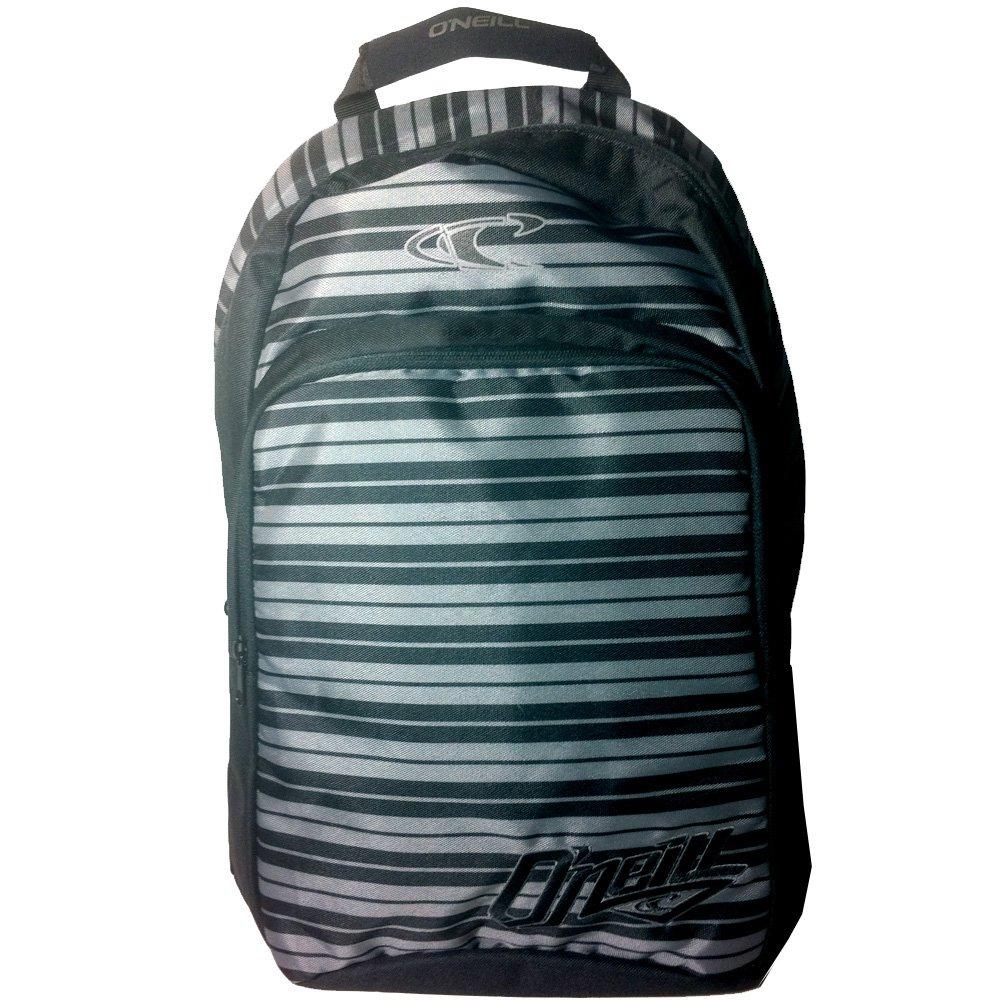 O'neill Generator Backpack Black Silver Stripe School Travel Surfing