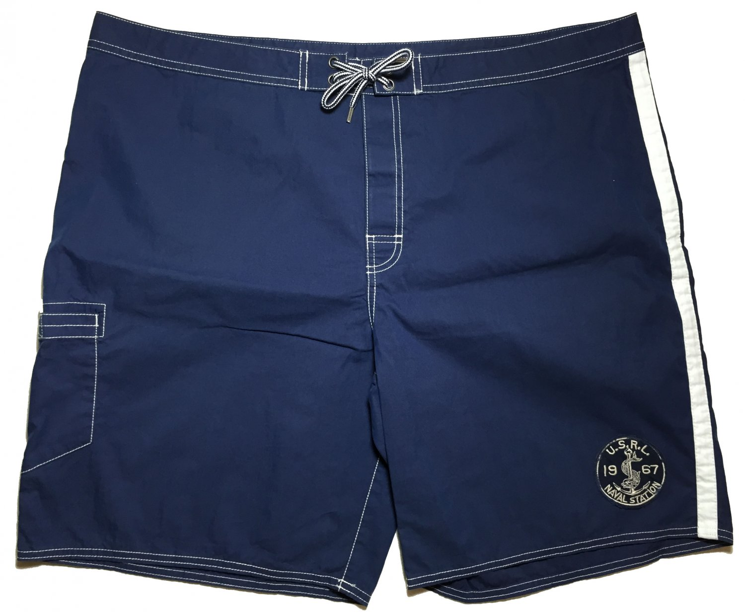 Men 42 Polo Ralph Lauren Swimwear Board Shorts Naval Trunks Navy Blue