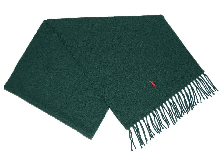 Polo Ralph Lauren Lambswool Cashmere Lightweight Green Scarf