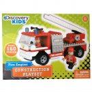 160 Pcs Discovery Kids FIRE ENGINE Car Construction Building Blocks Gift Ages 6+