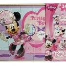 3 Wood Puzzles 24 Pcs each Disney Minnie Mouse Bow-Tique Girls Gift Toy 3+