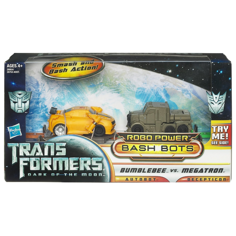 Transformers Dark Moon Bash Bots Bumblebee vs Megatron Smash Gift Toy Boys 4+