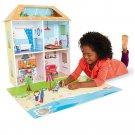 14 Pcs Imaginarium SURFSIDE BEACH HOUSE with Playmat Pretend Play Girls Gift 3+
