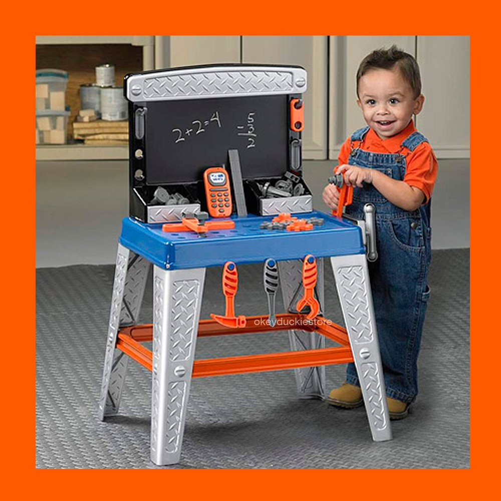 """BIG GIFT 32"""" My Very Own TOOL BENCH Handyman Garage Toy Made USA Boys Ages 2+"""