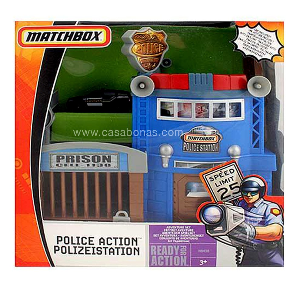 Police Toys For Boys : Matchbox police action adventure set ready track car