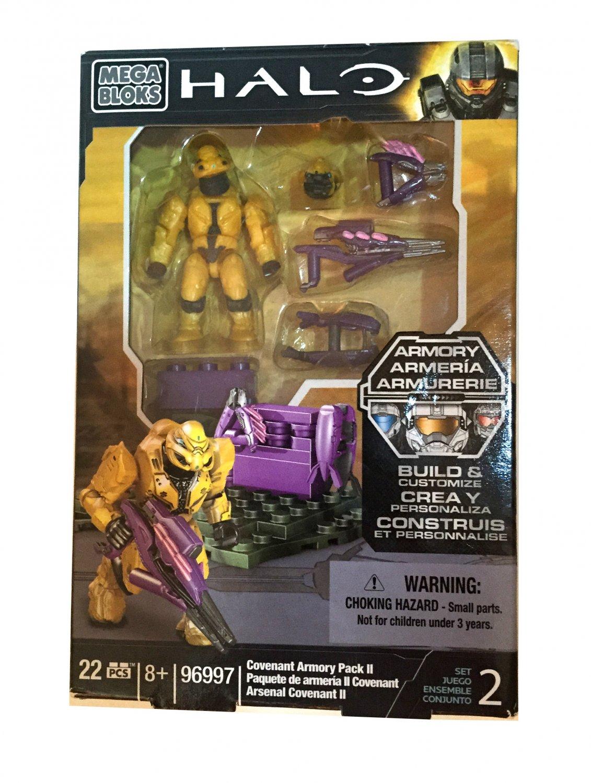22 Pcs Mega Bloks Halo 96997 Covenant Armory II Pack Stocking Stuffer Boys 8+
