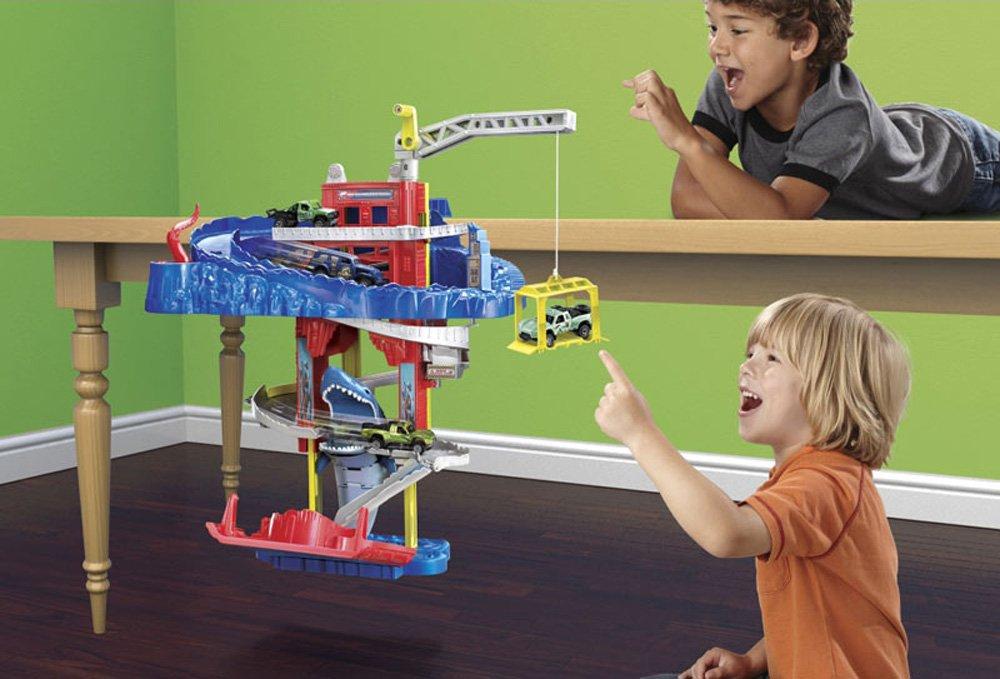 Matchbox Cliff Hanger Play Edge Table SHARK ESCAPE Playset HUGE Gift Toys Boy 3+