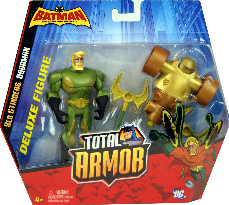 DC Comics Batman Total Armor Sea Stingers Aquaman Deluxe Figure Boys Ages 4+