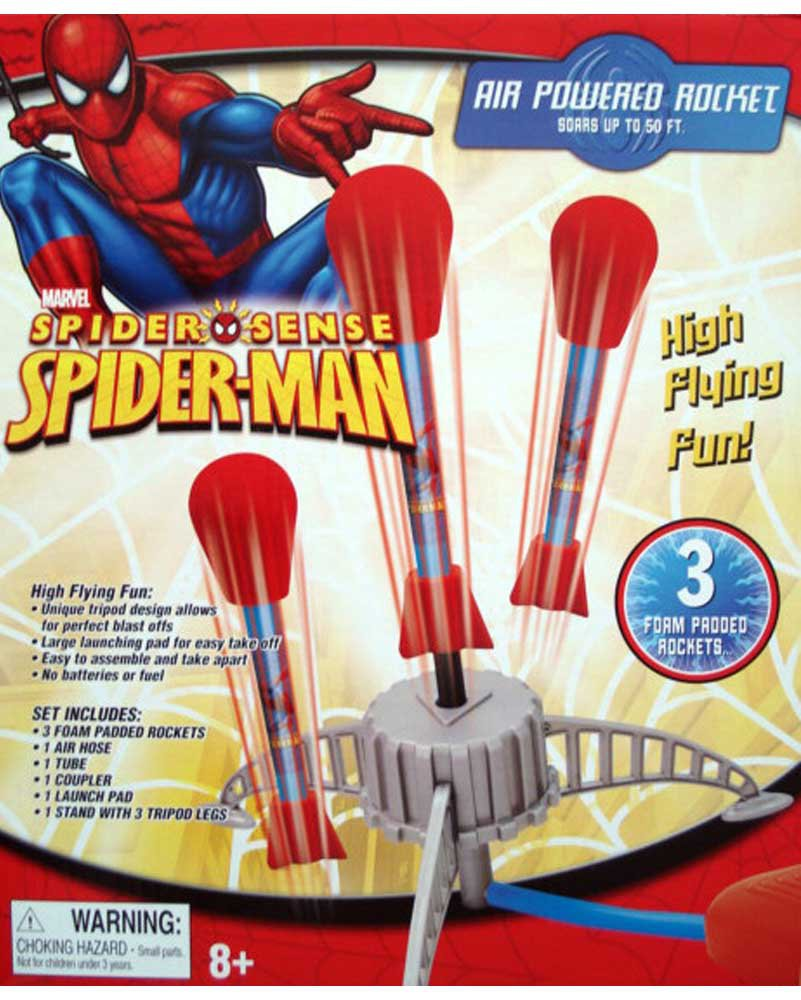Marvel Spider-Man Sense Air Powered Rocket Soars Up to 50 Ft. Boys Ages 8+