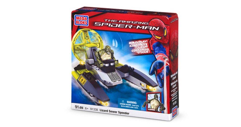 91 Pcs Mega Bloks The Amazing Spider-man Lizzard Sewer Speeder Boys Gift 6+