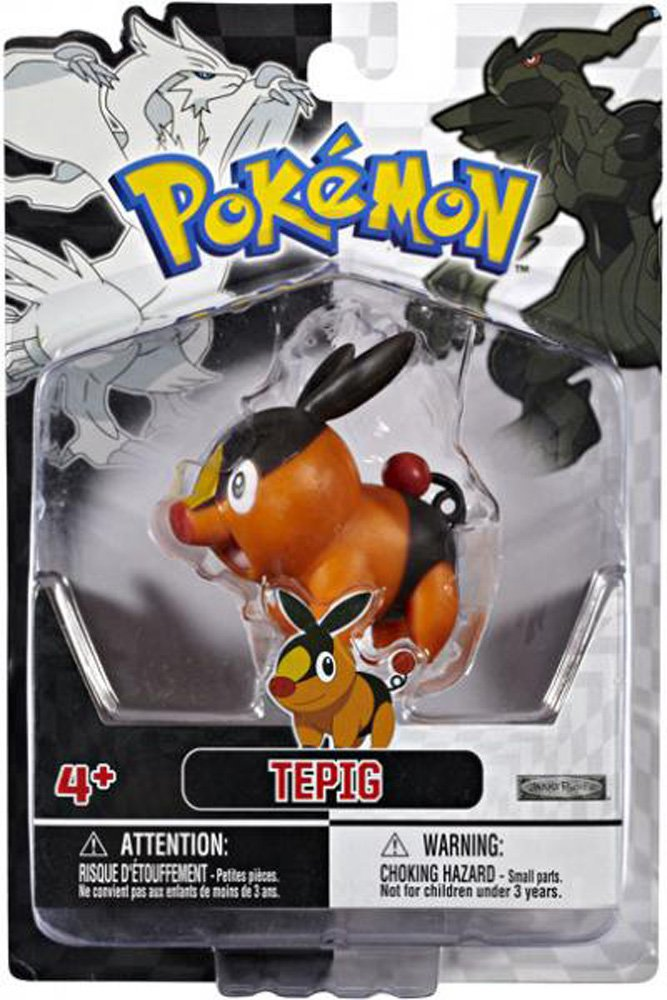 "2.5"" Tepig Type Fire Pokemon Action Figure Collector Boy Gift Ages 4+"