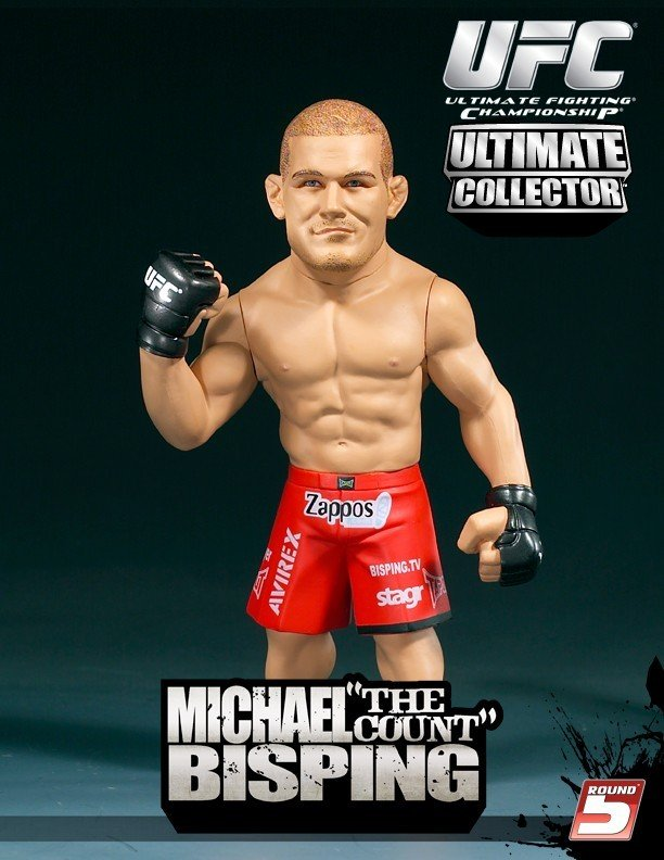 """UFC Michael """"The Count"""" Bisping Action Figure Ultimate Collector Ages 5+"""