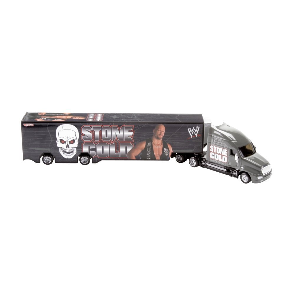 WWE Hot Wheels Stone Cold Steve Austin Semi Hauler Truck Gift Boys Collector 8+