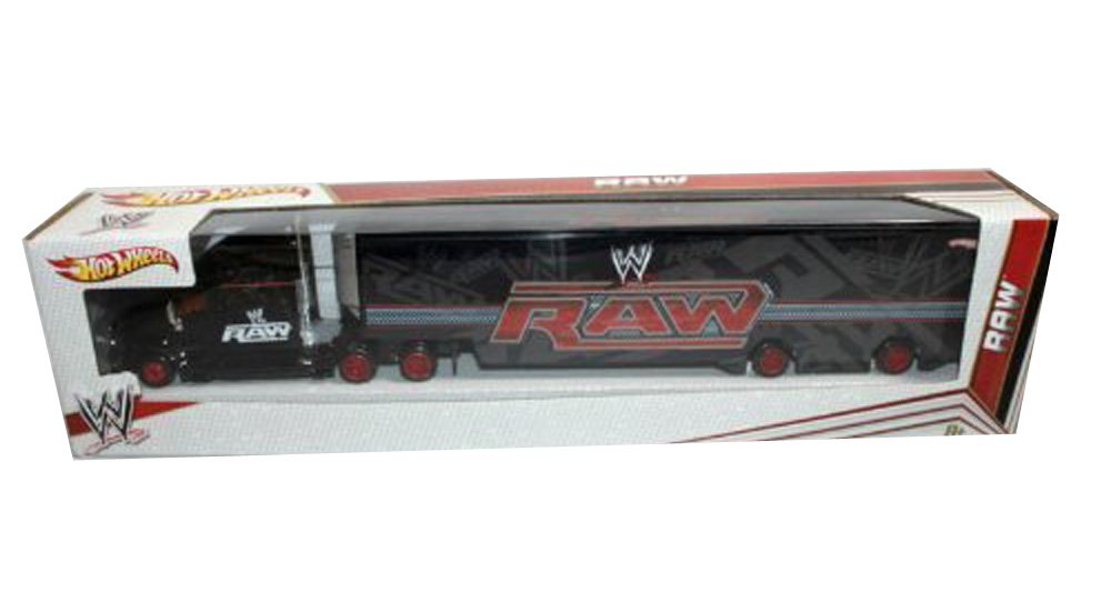 WWE Hot Wheels Raw Semi Hauler Truck Gift Boys Collector 8+