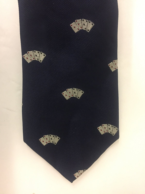 Polo Ralph Lauren Poker Game Card Narrow Men's Tie Made in Italy