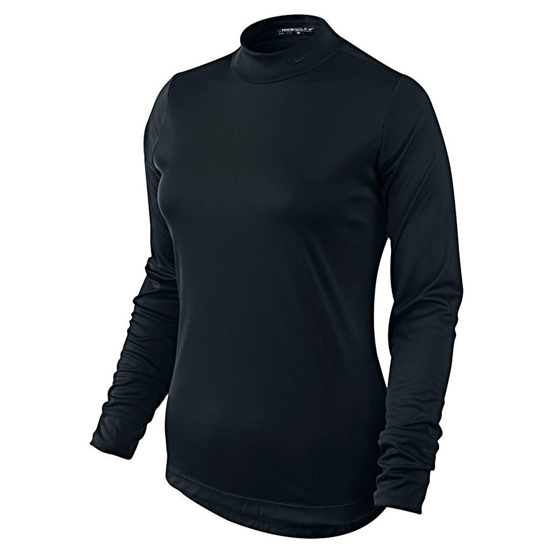 Nike Golf Women's Basic Long Sleeve Mock 416583-010 Small Black
