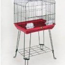 "Prevue Pet Black & Red Cage For Bird Parakeet or Cockatiel 21""L X 14""D X 21""H"
