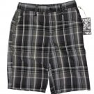 Hurley Gomery Black Plaid Chino Men's Short Summer Vacation Travel 29