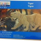 "Creatology 3D Natural Wood Wooden Puzzle Tiger 12.87"" x 3.32"" x 5.73"" Ages 3+"