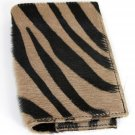 Maurizio Taiuti Leather Zebra Animal Print Passport Travel Wallet
