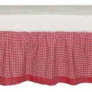 Tadpoles Classic Gingham Crib Skirt Red