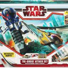 BIG TOY Speed Star Wars Tri-Droid Attack Set with Anakin Skywalker's Jedi Starfighters Ages 5+