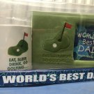 World's Best Dad Golf Cup and Frame