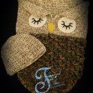 Owl Cocoon Pattern Newborn-2T