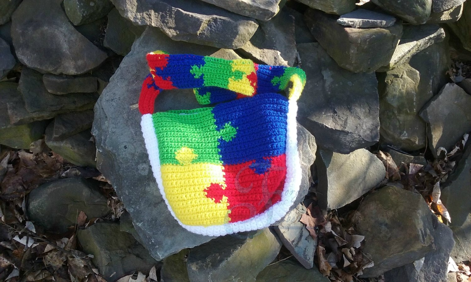 Autism Puzzle Shoulder Bag Pattern