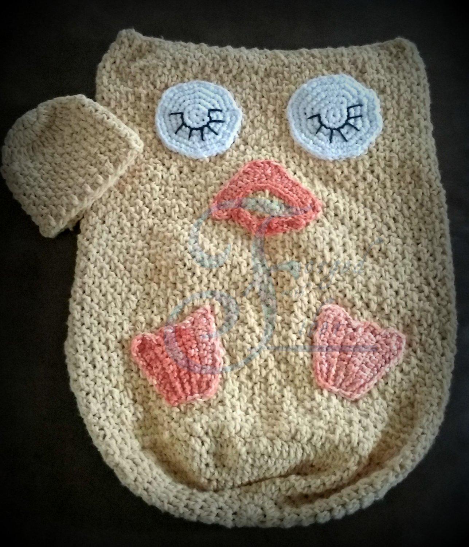 Duck Cocoon Pattern Newborn-2T