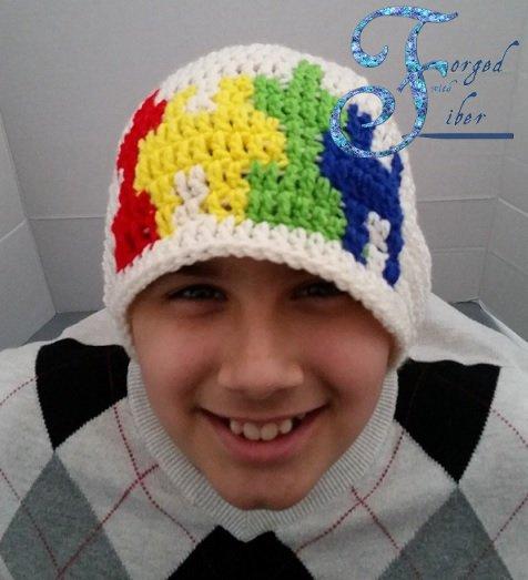 Teen Autism Beanie Pattern