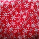 Snowflake print flannel fabric