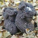 Petaled Baby Boots Crochet Pattern