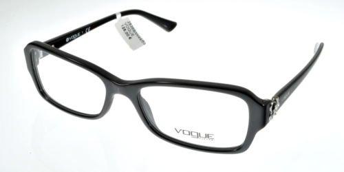 New Original Eyeglasses Vogue VO 2836B W44 Women Black Square