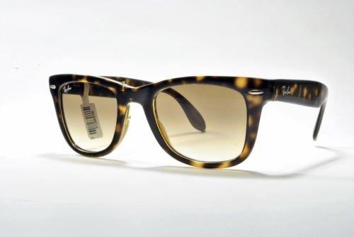 Ray Ban folding wayfarer sunglasses RB 4105 710/51 54 Brown Havana