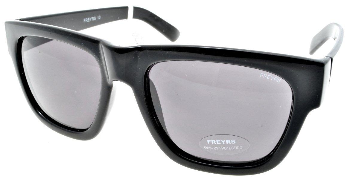 New Original Sunglasses Freyrs 10 BLACK Unisex Black Square