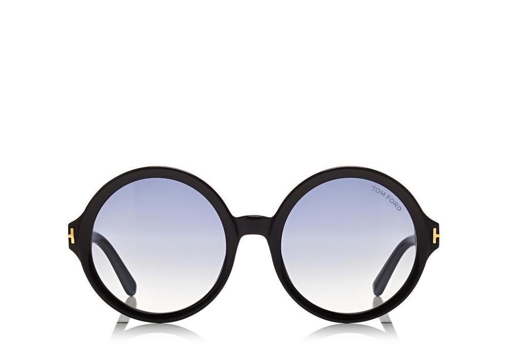 af6988958db4 Sunglasses Tom Ford Juliet TF 0369A 01B Women Black Round Gradient
