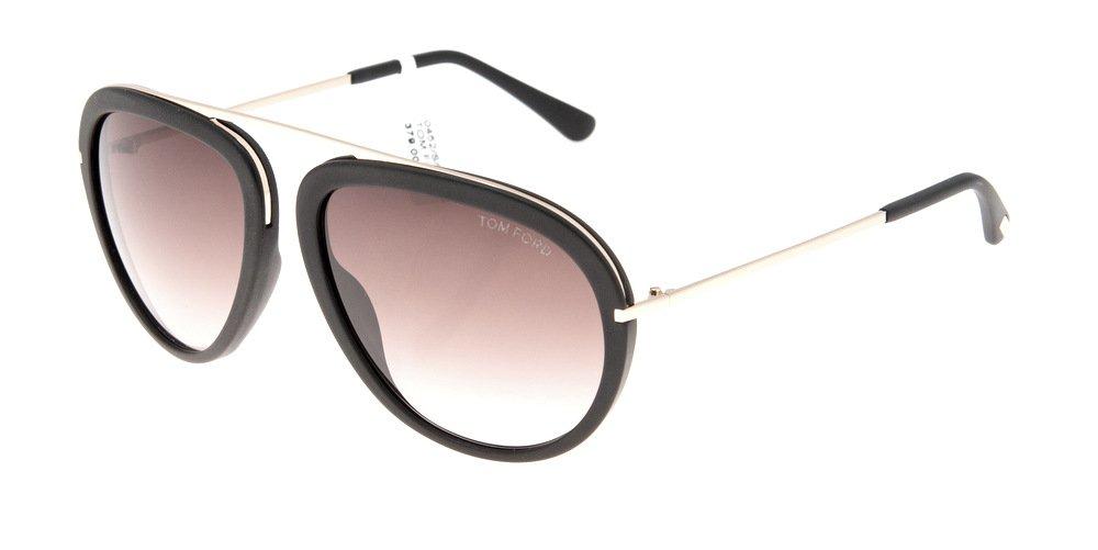 Sunglasses Tom Ford Stacy TF 0452/S 02T Unisex Black Aviator Gradient